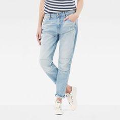 now on eboutic.ch - boyfriend jeans blue denim for woman Blue Denim, Blue Jeans, Denim Jeans, Mom Jeans, Skinny Jeans, 100 Cotton Jeans, Jeans Boyfriend, G Star Raw, Sport