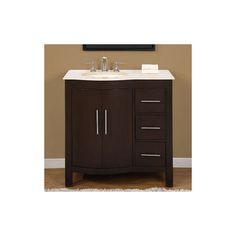 "Silkroad Exclusive Single 36"" Bathroom Vanity, Hyp-0912-36-L 36 bathroom, bathroom vanities, vaniti hyp, singl bathroom"