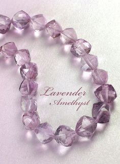 SmartyHands.com: Lavender Amethyst Cube diagonal 8mm / 2pcs