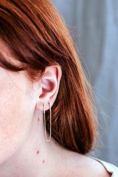 Chain Post Earrings for Double Pierced Ears Minimalist by TheFORMA