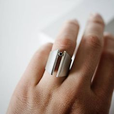 Výrazný stříbrný prsten ADRIANA / MayzelJewelry - SAShE.sk Silver Rings, Jewelry, Jewellery Making, Jewerly, Jewlery, Jewelery, Ornament