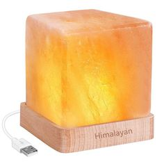 AMIR Natural Himalayan Crystal Salt Lamp, Natural Glow Pink Crystal Rock with USB Wood base (UL-listed Cord Included), Elegant Design for Lighting and Decoration >>> Find out more about the great product at the image link. (This is an affiliate link) Himalayan Rock Salt Lamp, Himalayan Salt Crystals, Bedroom Decor Lights, Bedroom Lighting, Salt Rock Lamp, Natural Glow, Natural Salt, Night Lamps, Led Night Light