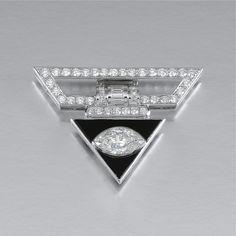 ONYX AND DIAMOND BROOCH   lot   Sotheby's