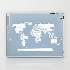 map Laptop & iPad Skin by Liva Cabule - $25.00