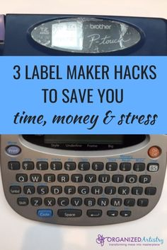 3 Label Maker Hacks to Save You Time, Money, and Stress Best Label Maker, Organizing Your Home, Organizing Tips, Organizing Labels, What To Use, Spice Jars, Printing Labels, Organization Hacks, Getting Organized