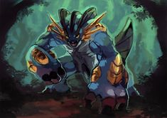 Mega Swampert by Garmmon on DeviantArt All Pokemon, Pokemon Cards, Pokemon Rpg, Pokemon Stuff, Mega Swampert, Pokemon Champions, Pokemon Starters, Mudkip, Mega Evolution