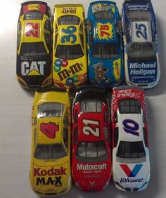 NASCAR 7 RACE CARS AP, RACING CHAMPIONS & HOT WHEELS CARTOON NETWORK