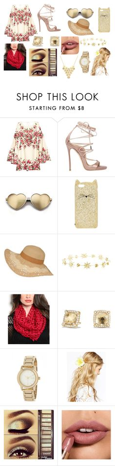 """""""The Nude Colors!!!"""" by blackwidow-xoxo on Polyvore featuring Dsquared2, Wildfox, Kate Spade, Charlotte Russe, Curvy Lily, David Yurman, DKNY, ASOS, Urban Decay and Sparkling Sage"""
