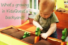 April is Go Green month at KidsQuest. Today children were busy gardening in the backyard!