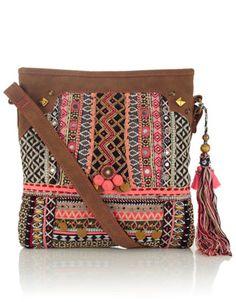 Rhiad Embellished Mirror Tassel Bag | Multi | Accessorize