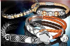 koza v kombinacii z chirurgicku ocelou Piercing, Charmed, Bracelets, Jewelry, Jewlery, Jewerly, Piercings, Schmuck, Jewels