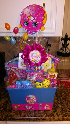 Pin by dawn vay on easter baskets pinterest girl gift baskets shopkins easter basket negle Choice Image