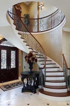 Modern Staircase Design Ideas - Stairways are so typical that you do not provide a doubt. Look into best 10 instances of modern staircase that are as magnificent as they are . Foyer Staircase, Marble Staircase, Staircase Design, Staircase Ideas, Spiral Staircases, Staircase Bookshelf, Staircase Landing, Staircase Storage, White Staircase