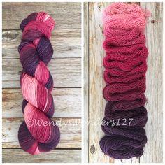 Gradient Yarn, Hand Dyed Yarn, Shawl length, 600 yards, SWM/Silk, Never Forgotten by WendysWonders127 on Etsy https://www.etsy.com/listing/584646618/gradient-yarn-hand-dyed-yarn-shawl