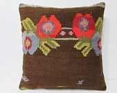 24x24 kilim pillow 24x24 euro pillow cover large boho pillow large decorative pillow large pillow case large couch pillow euro sham 23612