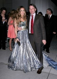 Pin for Later: 50 Times SJP Was a Real-Life Carrie Bradshaw  This Nina Ricci silver sorceress gown was heavenly, she wore it to the Sex and the City movie New York premiere in '08.
