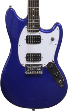 Squier Bullet Mustang HH - Imperial Blue w/ Indian Laurel Fingerboard Mustang, Music Library, Blue, Popular, Mustangs, Mustang Cars, Popular Pins, Most Popular