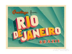 Brasil Vintage Travel Posters