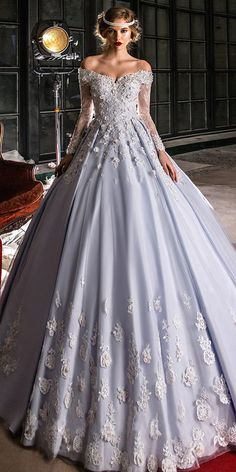 Wedding Dresses Ball Gown, Marvelous Tulle Off-the-shoulder Neckline A-line Wedding Dress With Lace Appliques & Beadings & Handmade Flowers MagBridal Unconventional Wedding Dress, Stunning Wedding Dresses, Wedding Dresses 2018, Perfect Wedding Dress, Cheap Wedding Dress, Wedding Dress Styles, Designer Wedding Dresses, Beautiful Gowns, Bridal Dresses