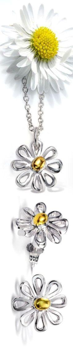 Daisy Hill, Daisy Love, Daisy Daisy, Fashion Accessories, Fashion Jewelry, Floral Fashion, Color Fashion, Birth Flowers, Steel Jewelry