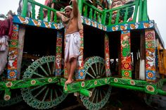 A Devotee On Chariot