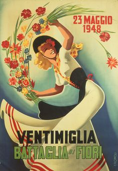 Poster for the Battle of the flowers, Ventimiglia (Musei di Genova)