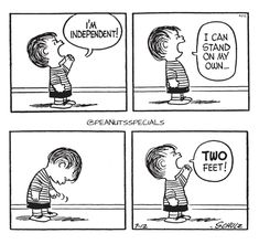 First Appearance: July 12th, 1956 #peanutsspecials #ps #pnts #schulz #linusvanpelt #independent #stand #twofeet www.peanutsspecials.com