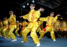 Taichi 'Dream Team', whose members are visually impaired gave a perfect perfomance in Beijing on the eve of National Day 2011. #Tai_Chi #Dream_Team #Beijing #Vision_Impaired