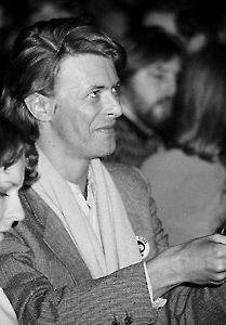 Here's David Bowie a big fan of the Uncle Floyd Show from photographer Bob Leafe's website