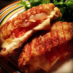 Grilled cheese & onion sandwiches