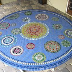 A $40 thrift-shop table  gets a dynamite DIY do-over by this first-time mosaic craftsperson. 2013 TOH Dont Buy It, DIY It! Contest | thisoldhouse.com/yourTOH