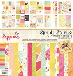 Sunshine and Happiness Collection Kit by Simple Stories for Scrapbooks, Cards, & Crafting found at FotoBella.com