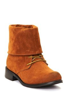 HauteLook | Colors Of Fall: Must-Own Shoes: Bucco Lace-Up Fold Down Cuff Boot