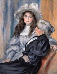 """P.A. RENOIR. Berthe Morisot et sa fille Julie Manet, Not """"Edouard Manet"""""""