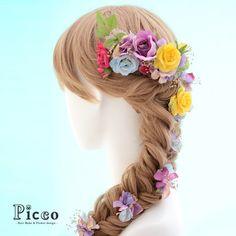 ラプンツェル風髪飾りです。|ハンドメイド、手作り、手仕事品の通販・販売・購入ならCreema。