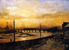 Falls Bridge, Melbourne Frederick McCubbin - 1882