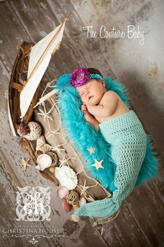 The Little Princess Mermaid Headband from The Couture Baby