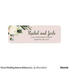 Shop Floral Wedding Return Address Label created by EllisonReed.