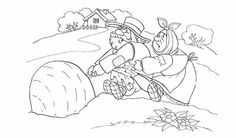 The Big Carrot, Handout, Russian Folk Art, Dramatic Play, Stories For Kids, Coloring Pages, Fairy Tales, Wonderland, Moose Art