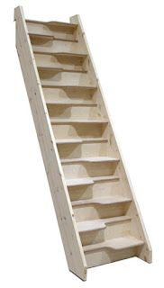 Birch 24 Space Saving staircase - I'd love to extend our master bedroom closet to a second level in the attic above - it would need stairs - otherwise there is no other way to get more room in the master closet. It's too small for today's home buyer e Attic Closet, Attic Playroom, Master Bedroom Closet, Attic Rooms, Attic Bathroom, Attic Office, Attic Wardrobe, Garage Attic, Attic Apartment