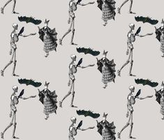 Let Us Dance Like Children Of The Night! fabric by peacoquettedesigns on Spoonflower - custom fabric