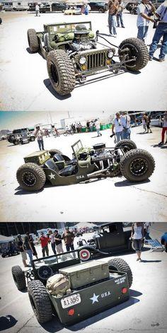 Rat Rod Flat Fender Jeep - Very Cool!
