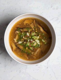 Detox Hot & Sour Soup | This clean version of a Chinese take-out standby is assertively bright and ginger-y.