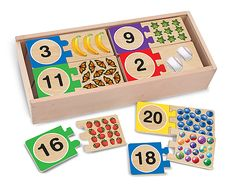 Self-correcting number puzzles by Melissa and Doug