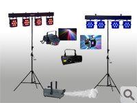 PACK LUCES DISCO - Torres de Iluminación profesional + Efecto y Laser 3D