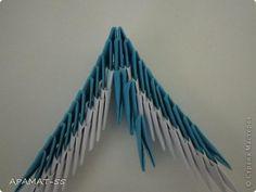 Мастер-класс, Поделка, изделие Оригами модульное: Дельфин Бумага. Фото 22