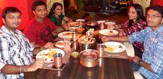 Yagnesh & Friends Enjoying a meal of Hyderabadi delicacies at The Golconda Bowl, Bandra (W)
