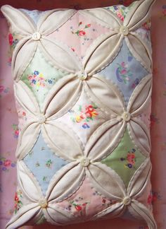 I have always wanted to make a cathedral window quilt. My Memaw made one with birds in the windows. And it was gorgeous