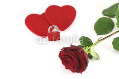 hearts with padlock