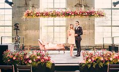 The unique surrounds of The Turbine Room, Brisbane Powerhouse give this industrial wedding setup its eye-catching urban twist.